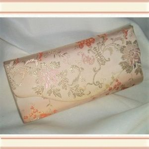 Silk Brocade Embroidered Oriental Motif Clutch Bag